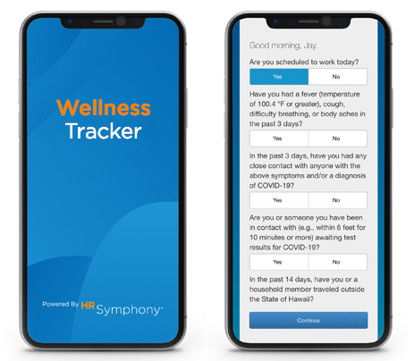 Screenshot of Wellness Tracker on Mobile Device